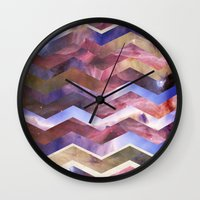 sagan Wall Clocks featuring We are all made of stars by Nika