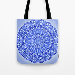 Blue Doodles & Bits Tote Bag