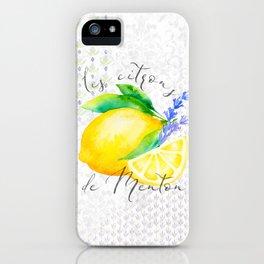 Les Citrons de Menton—Lemons from Menton, Côte d'Azur iPhone Case