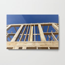 Wooden construction house Metal Print
