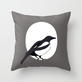 Magpie Love Throw Pillow