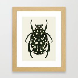 green beetle insect Framed Art Print