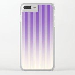 Gradient Stripes Pattern pl Clear iPhone Case