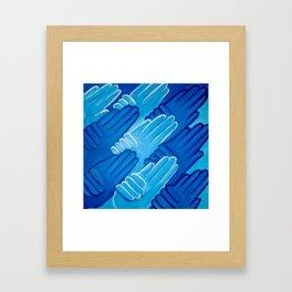Blue Hands Framed Art Print