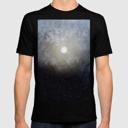 Glowing Moon in the night sky T-shirt