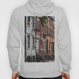 Picturesque street view in Greenwich Village, New York Hoody