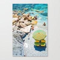 umbrella Canvas Prints featuring Umbrella by Halina  Jasińska photography
