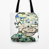 homer Tote Bags featuring Homer Color by Drew Kochell