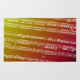 Double Bass Concerto Music on Red Rug