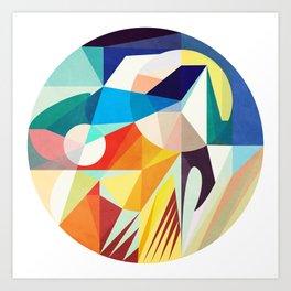 Around The Circle Art Print