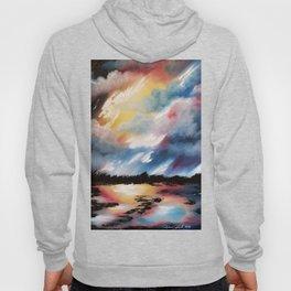 Moody Sunset, Dark Sunset, Abstract Sunset, Seascape, Sunscape, Skyscape Hoody