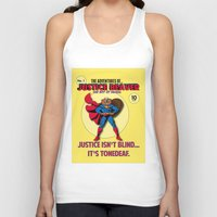 beaver Tank Tops featuring Justice Beaver by Alex Dutton