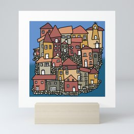 Corfu Kerkyra little village Mini Art Print