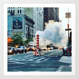 New York: Steam Stack Art Print