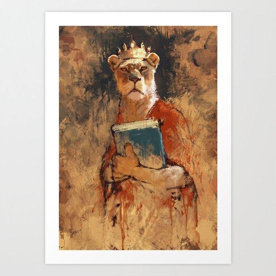 The queen's orders Art Print
