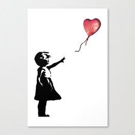 Banksy cosmic balloon Canvas Print