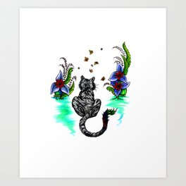 Tiger Paint Art Print