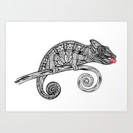 Rubino Lizard Drawing Art Print