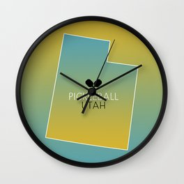Utah Pickleball Sunset Wall Clock