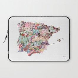 Spain map flowers composition Laptop Sleeve