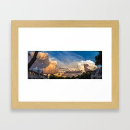 Intense Clouds Framed Art Print