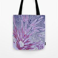 ice Tote Bags featuring ice by donphil