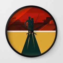 Vintage Adventure Travel Phobos and Deimos Wall Clock