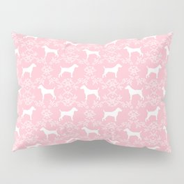 Jack Russell Terrier floral silhouette dog breed pet pattern silhouettes dog gifts pink Pillow Sham