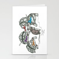 ninja turtles Stationery Cards featuring Ninja Turtles by Vickn