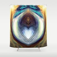 mirror Shower Curtains featuring Mirror  by DreamBeyondArt