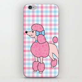 Pink Poodle iPhone Skin