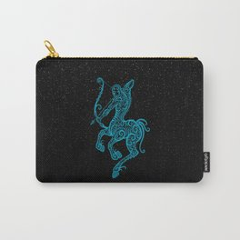 Blue Sagittarius Zodiac Sign in the Stars Carry-All Pouch