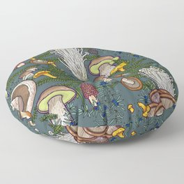 mushroom forest Floor Pillow