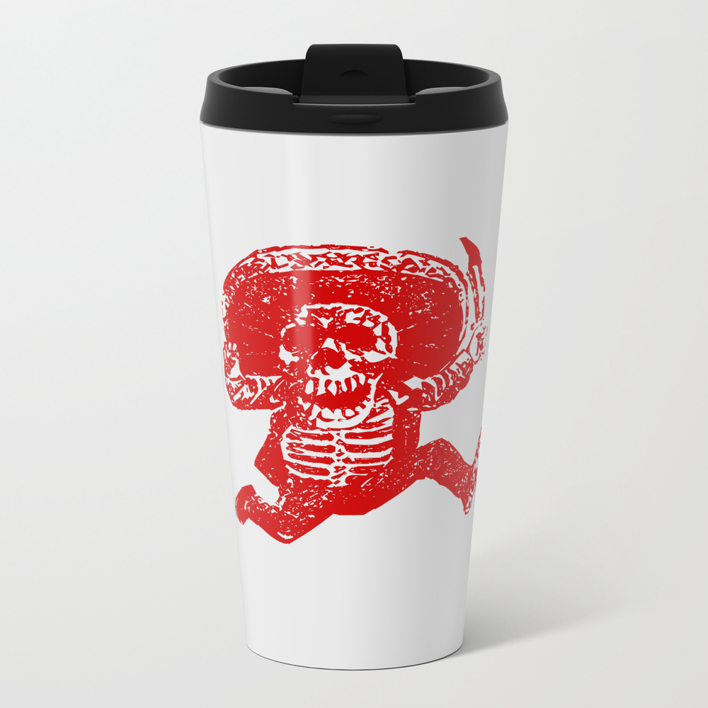 Pirate Skeleton Holding Dagger Travel Cup TRM7897278