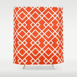 Florida fan gators university orange and blue team spirit football college sports lattice trellis Shower Curtain