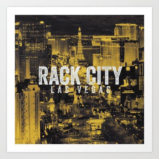 Black Yellow Cool Rack City Las Vegas Photography Art Print