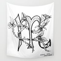 scorpio Wall Tapestries featuring Scorpio by Megan Dill