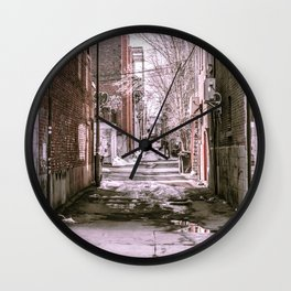 Montreal - Alley Wall Clock