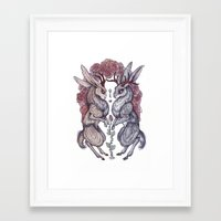 hearts Framed Art Prints featuring Rare Hearts by Caitlin Hackett