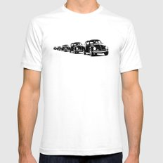 Bug Parade Pattern Mens Fitted Tee White SMALL