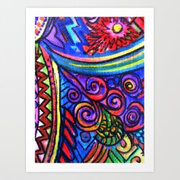 Textured Abstract with a Plethora of Plummage Art Print