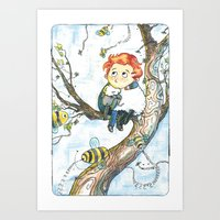 cabin pressure Art Prints featuring Cabin Pressure: Uskerty by theo-doras