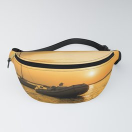 Ships in the evening sun Fanny Pack