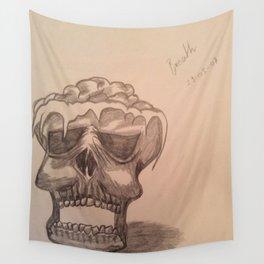 Elementary skull Wall Tapestry