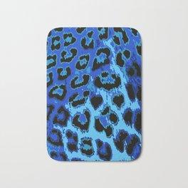 Blue Leopard Spots Bath Mat