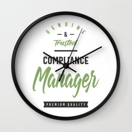 Compliance Manager Wall Clock