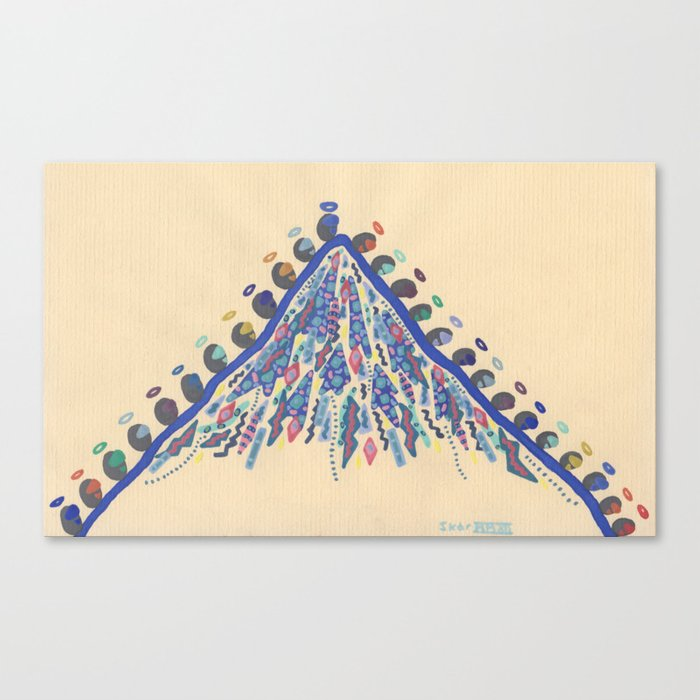 Pilgrimage, Distant Mountain Canvas Print