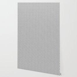 Small Black Crosses on White Wallpaper