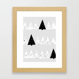 Snowy Forest Framed Art Print