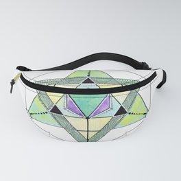 Triangles Mandala, Crystal Grid Fanny Pack